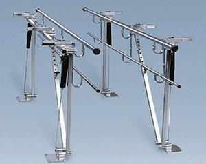 Adjustable Height And Width Single Operator Adjustable Parallel Bars Floor Mounted (Model 565)