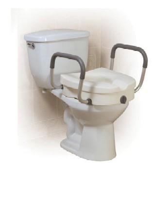 Elevated Toilet Seat With 2-In-1 Locking Tool-Free Arms (Model 1152E)
