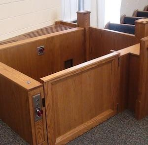Courtroom Rostrum Wheelchair Lift