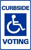 Curbside Voting Sign (Model Sg-103F)