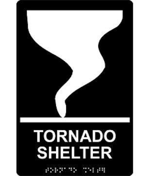Tornado Shelter Sign - Braille (Model Rre-14840)