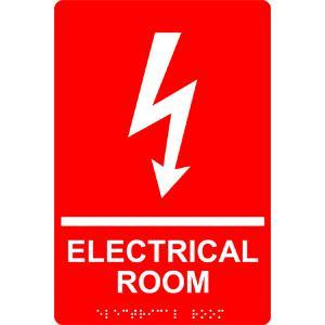 Electrical Room Sign With Braille (Model Rre-945)