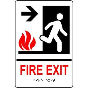 Fire Exit Sign With Braille (Model Rre-275)