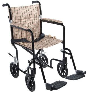 Deluxe Fly-Weight Aluminum Transport Chair (Fw17 & Fw19 Series)