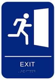 Exit Sign & Exit Route Sign (Models Caext69 & Caexrt4534)