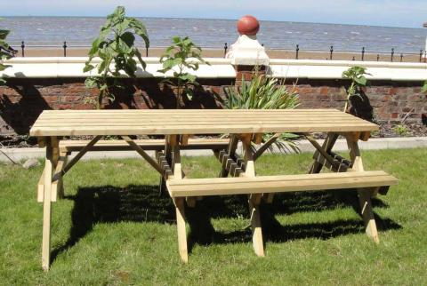 6-Seater Picnic Table- Fits 2 Wheelchairs