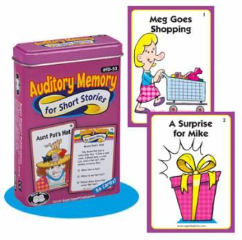 Auditory Memory Cards For Short Stories