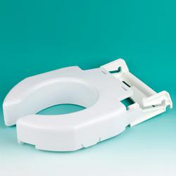 Secure-Bolt Hinged Elevated Toilet Seat - Standard