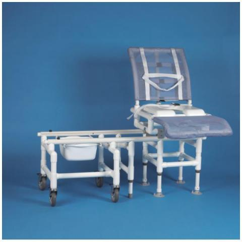 DuraGlide Reclining Bath And Commode Transfer System With Seat