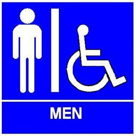 Ada Restroom Sign With Braille (Models 507, 508, 509, 527, 528, & 529)
