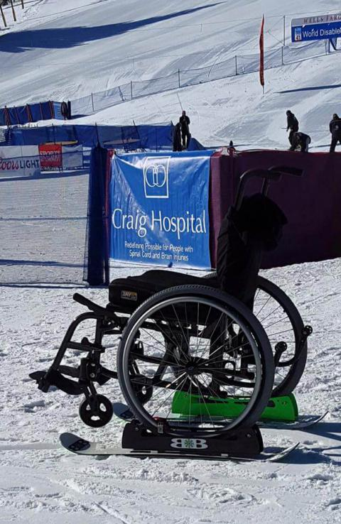 BikeBoards Adaptive Ski Kits for Wheelchair Snow Access