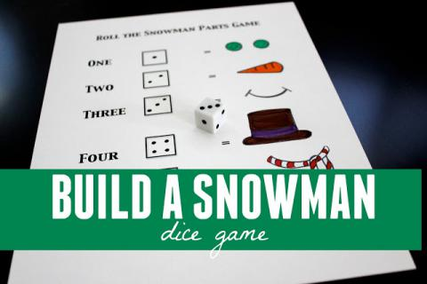 Build a Snowman Dice Game