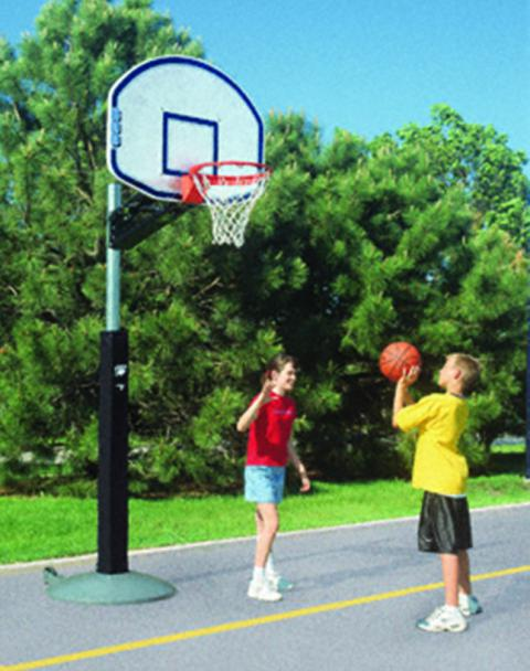 Bison QwikChange Portable Basketball Playground System with Graphite Backboard, 36 X 48 in Backboard, Steel