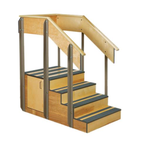 Staircase Storage Island With 2 Doors