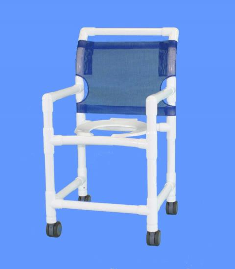 The SHOWER/COMMODE DELUXE CHAIR, PVC,