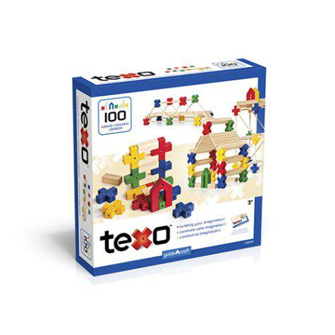 Guidecraft Texo Block Set, Ages 3+, Set of 100
