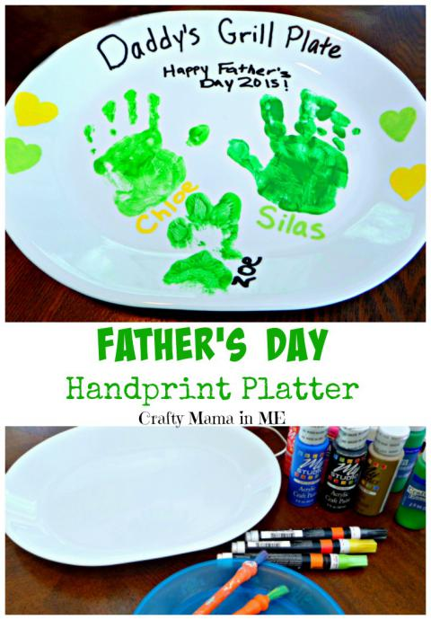Father's Day Handprint Platter