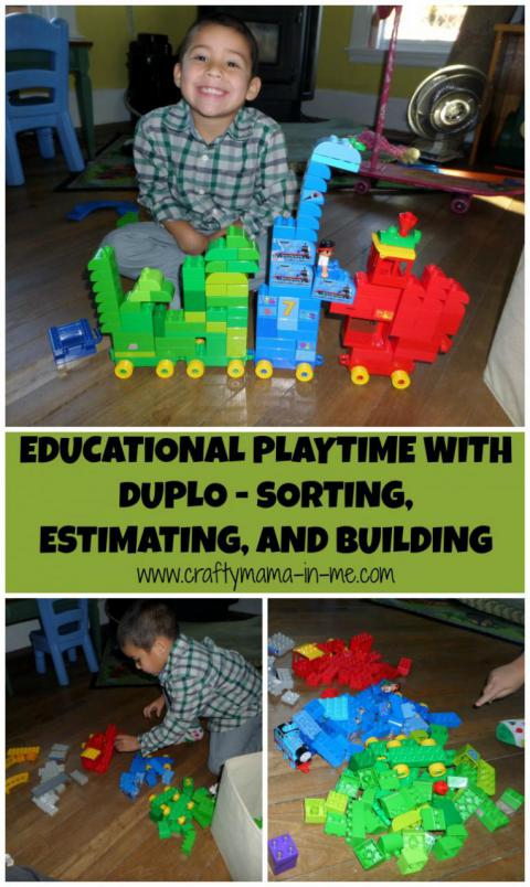Educational Playtime with Duplo – Sorting, Estimating, and Building